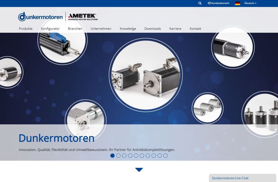 Dunkermotoren Website